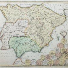 Arte: MAPA DE ESPAÑA Y PORTUGAL ANTIGUOS, 1720. WEIGEL. Lote 53447854