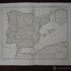 Arte: GRAN MAPA DE ESPAÑA Y PORTUGAL, 1789. DEZAUCHE/BUACHE. Lote 53511490