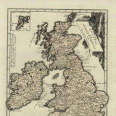 Arte: GRAN MAPA DE GRAN BRETAÑA E IRLANDA, 1780. REILLY. Lote 53600015