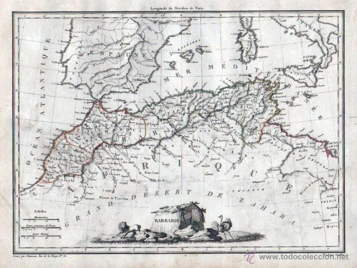 Mapa Africa Del Norte.Mapa Del Norte De Africa 1810 Malte Brun Comprar Cartografia Antigua Hasta S Xix En Todocoleccion 53601605
