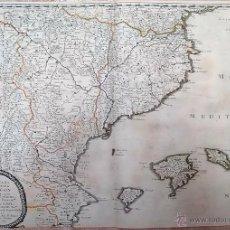 Arte: MAPA SIGLO XVII CATALUNYA, ARAGON, VALENCIA Y BALEARES - 1653. Lote 53618357