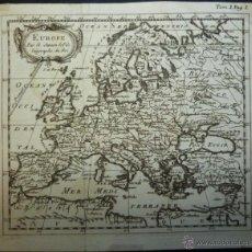 Arte: MAPA DE EUROPA, 1740. NICOLÁS SANSON. Lote 53729879