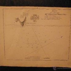 Arte: PLANO DEL PUERTO DE MOLINOS, MALAGA, SANTONI TOMMASO INC, PIANO DEL ANCORAGGIO DI MOLINOS. Lote 53730889