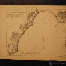 Arte: PLANO DEL PUERTO DE SAN PEDRO, MALAGA, SANTONI TOMMASO INC, PORTO DI SAN PIETRO. Lote 53730972