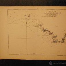 Arte: PLANO DEL PUERTO DE SALOU, TARRAGONA, TOMMASO SANTONI, ANCORAGGIO DI SALOU. Lote 53750294