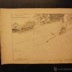 Arte: PLANO DEL PUERTO DE BARCELONA, TOMMASO SANTONI, PORTO E RADA DI BARCELLONA. Lote 53750386