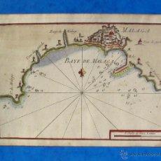 Arte: BAYE DE MALAGA - CARTA NÁUTICA S.XVIII- DE JOSEPH ROUX . Lote 53767438