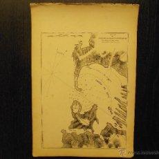 Arte: PORT DE BOUC, FRANCIA, TOMMASO SANTONI, PIANO DEL PORTO DI BOUC. Lote 53767584