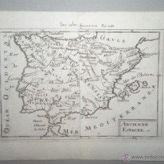 Arte: MAPA DE ESPAÑA Y PORTUGAL ANTIGUOS, 1720. MALLET. Lote 53791646