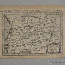 Arte: ANTIGUO MAPA DE CASTILLA (ESPAÑA), 1616. BERTIUS/HONDIUS. Lote 53792644