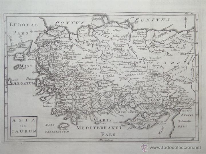 MAPA DE TURQUÍA ( EUROPA -ASIA), 1780. C. CELLARIUS (Arte - Cartografía Antigua (hasta S. XIX))