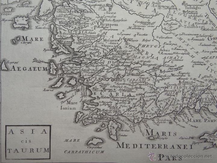 Arte: Mapa de Turquía ( Europa -Asia), 1780. C. Cellarius - Foto 2 - 53805746