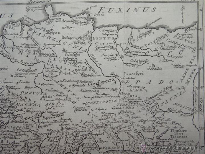 Arte: Mapa de Turquía ( Europa -Asia), 1780. C. Cellarius - Foto 3 - 53805746