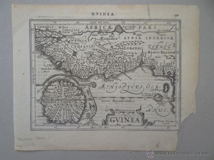MAPA DE GUINEA, SIERRA LEONA Y COSTA DE MARFIL, 1630. MERCATOR/HONDIUS/KAERIUS (Arte - Cartografía Antigua (hasta S. XIX))