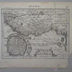Arte: MAPA DE GUINEA, SIERRA LEONA Y COSTA DE MARFIL, 1630. MERCATOR/HONDIUS/KAERIUS. Lote 53806944