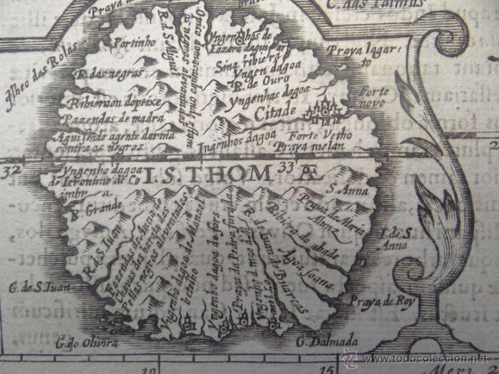 Arte: Mapa de Guinea, Sierra Leona y Costa de Marfil, 1630. Mercator/Hondius/Kaerius - Foto 3 - 53806944
