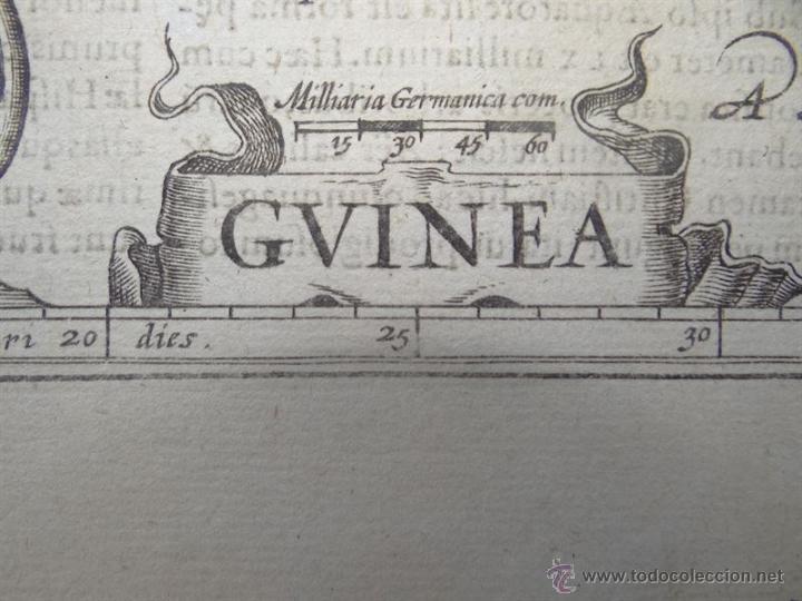 Arte: Mapa de Guinea, Sierra Leona y Costa de Marfil, 1630. Mercator/Hondius/Kaerius - Foto 5 - 53806944