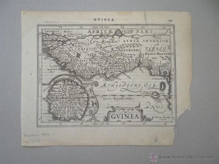 Arte: Mapa de Guinea, Sierra Leona y Costa de Marfil, 1630. Mercator/Hondius/Kaerius - Foto 6 - 53806944