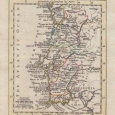 Arte: MAPA DE PORTUGAL, 1761. JOHN GIBSON/ANDREW DURY. Lote 53807338