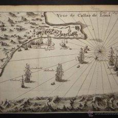 Arte: VISTA DEL PUERTO DE LIMA, (PERÚ, AMÉRICA DEL SUR) 1725. DE RENNEVILLE/BERNARD. Lote 53807878