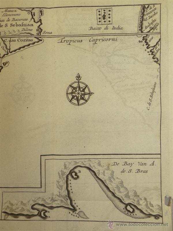 Arte: Vista de Cabo de Buena Esperanza (África), 1702. Renneville/ Bernard - Foto 2 - 53808184