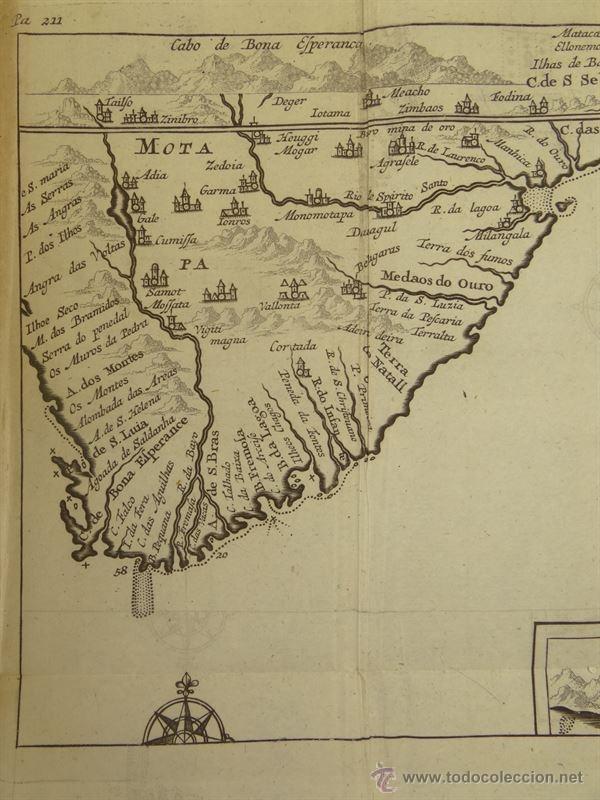 Arte: Vista de Cabo de Buena Esperanza (África), 1702. Renneville/ Bernard - Foto 3 - 53808184