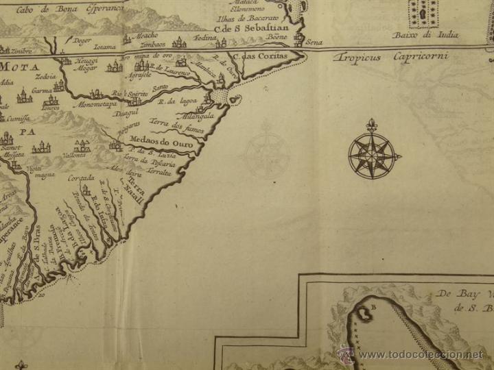 Arte: Vista de Cabo de Buena Esperanza (África), 1702. Renneville/ Bernard - Foto 4 - 53808184