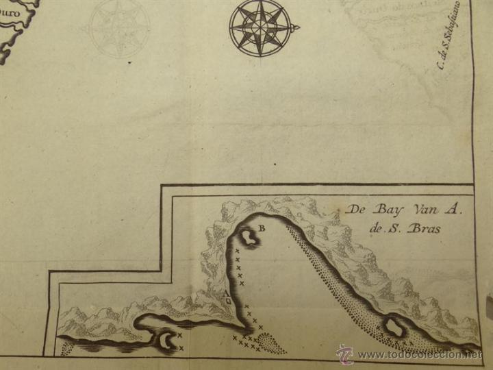 Arte: Vista de Cabo de Buena Esperanza (África), 1702. Renneville/ Bernard - Foto 5 - 53808184