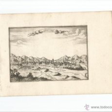 Arte: VISTA DE CERVERA (LLEIDA), 1688. BEAULIEU. Lote 53974046