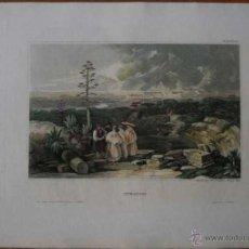 Arte: VISTA DE LA CIUDAD ROMANA DE ITÁLICA (SEVILLA, ESPAÑA), 1841. MEYER. Lote 53975150