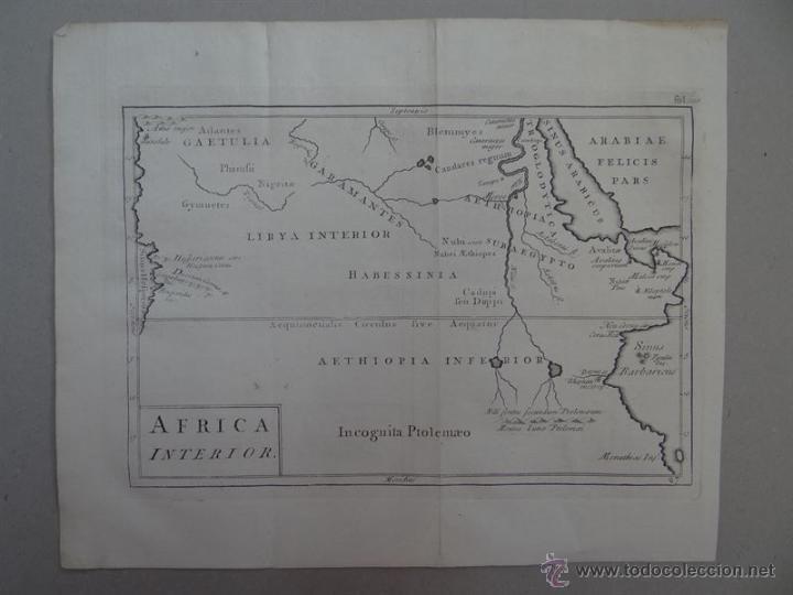 MAPA DE LA PARTE INTERIOR DEL NORTE DE ÁFRICA, 1750. (Arte - Cartografía Antigua (hasta S. XIX))