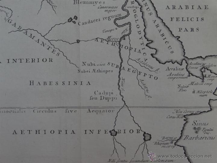 Arte: Mapa de la parte interior del Norte de África, 1750. - Foto 2 - 53975266