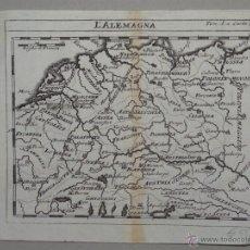 Arte: MAPA DE ALEMANIA, 1750.. Lote 53975624