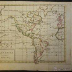 Arte: MAPA DE AMÉRICA DEL NORTE Y SUR ,1809.. Lote 53975996