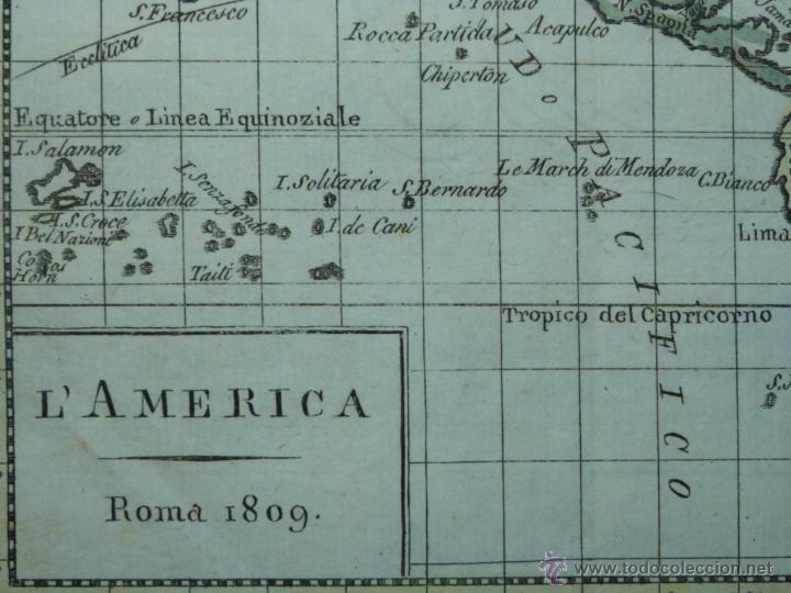Arte: Mapa de América del Norte y Sur ,1809. - Foto 2 - 53975996