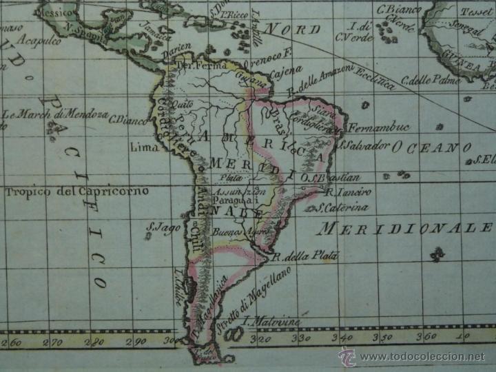 Arte: Mapa de América del Norte y Sur ,1809. - Foto 6 - 53975996