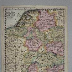 Arte: MAPA DE ALEMANIA, 1706. SCHENK. Lote 53976529