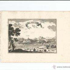 Arte: VISTA DE BALAGUER (LLEIDA, ESPAÑA), 1688. BEAULIEU. Lote 54059238
