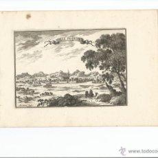 Arte: VISTA DE VILLAFRANCA DEL PENEDÉS (BARCELONA, ESPAÑA), 1688. BEAULIEU. Lote 54059331