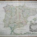 Arte: MAPA DE ESPAÑA ORIGINAL DEL AÑO 1663, PIERRE MARIETTE Y SANXON D'ABBERE, CALIDAD, RARO, 60 X 45 CM. Lote 54225137