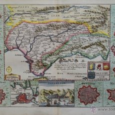 Arte: MAPA ANTIGUO DE ANDALUCÍA Y REINO DE GRANADA, 1707. Lote 54523491