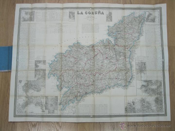 ATLAS DE ESPAÑA ( MAPA DE A CORUÑA),1856. FRANCISCO COELLO/MADOZ (Arte - Cartografía Antigua (hasta S. XIX))