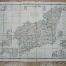 Arte: ATLAS DE ESPAÑA ( MAPA DE A CORUÑA),1856. FRANCISCO COELLO/MADOZ. Lote 54579074