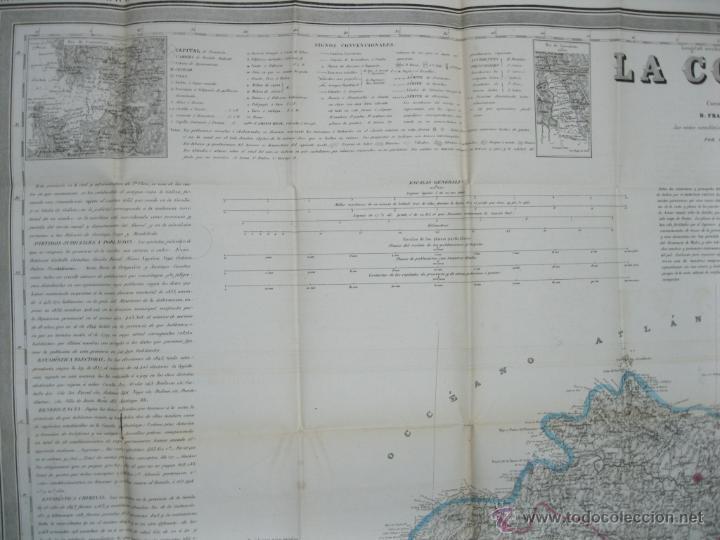 Arte: Atlas de España ( Mapa de A Coruña),1856. Francisco Coello/Madoz - Foto 4 - 54579074