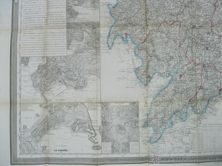 Arte: Atlas de España ( Mapa de A Coruña),1856. Francisco Coello/Madoz - Foto 6 - 54579074