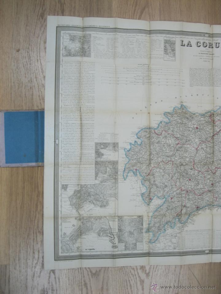 Arte: Atlas de España ( Mapa de A Coruña),1856. Francisco Coello/Madoz - Foto 8 - 54579074