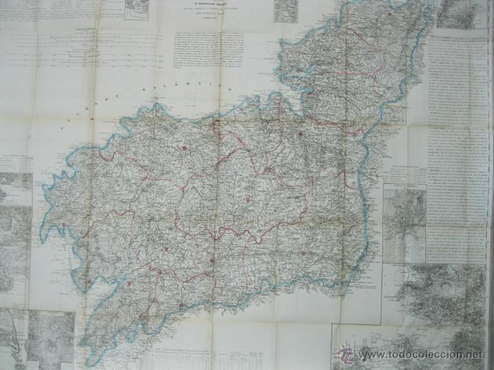 Arte: Atlas de España ( Mapa de A Coruña),1856. Francisco Coello/Madoz - Foto 11 - 54579074