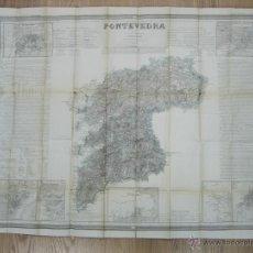Arte: ATLAS DESPLEGABLE DE ESPAÑA ( MAPA DE PONTEVEDRA), 1856. F. COELLO/MADOZ. Lote 54579206