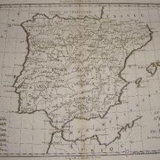 Arte: MAPA DE ESPAÑA Y PORTUGAL. 1771. BONNE, RIGOBERT. LE ROYAUME D'ESPAGNE ET CELUI DE PORTUGAL. Lote 54789399