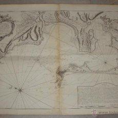 Arte: CARTA NAUTICA DE CÁDIZ. S.XVIII. CARTE HYDROGRAPHIQUE DE LA BAYE DE CADIX. 1762. Lote 165041386